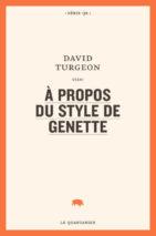 David Turgeon, À propos du style de Genette
